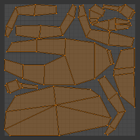 crab uv map